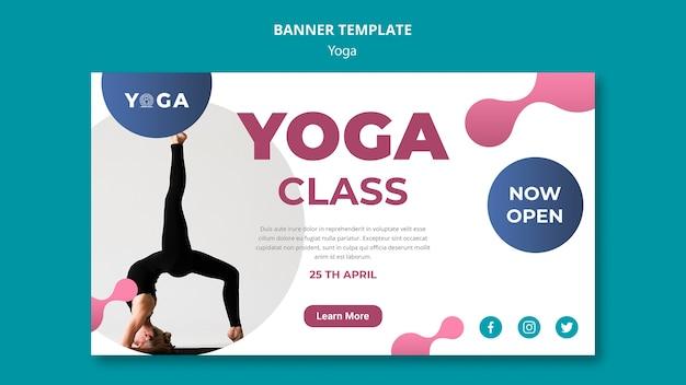Aula de yoga estilo banner modelo