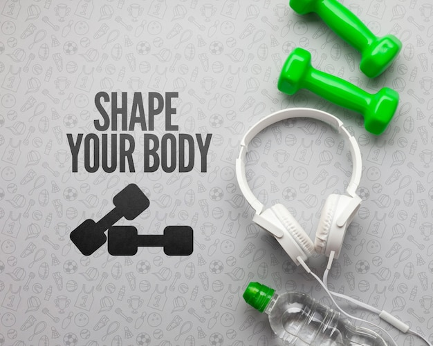 Auscultadores e equipamento para aulas de fitness