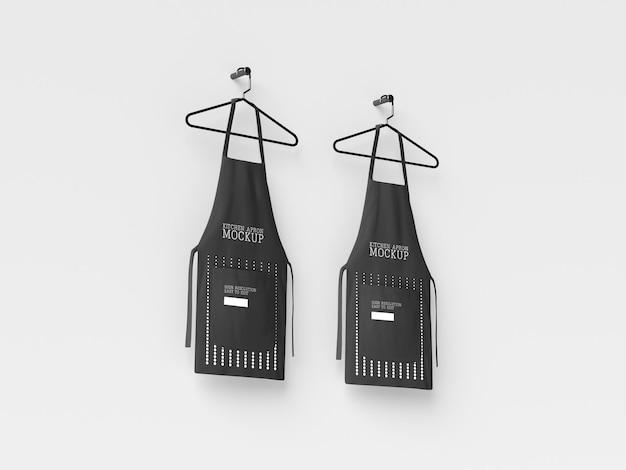 Avental de cozinha pendurado maquete