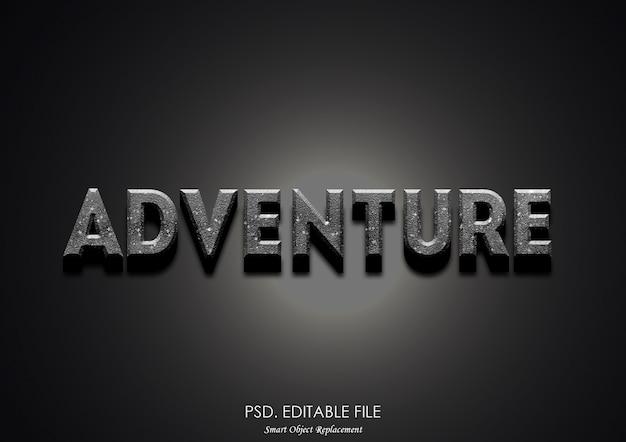 Aventura 3d efeito de texto filme maker