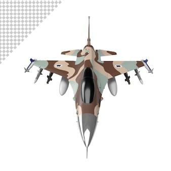 Avião a jato militar isolado