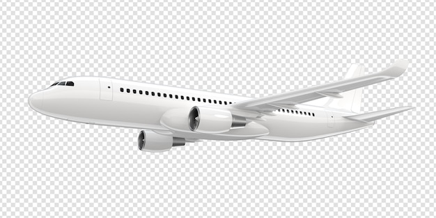 Avião comercial branco.