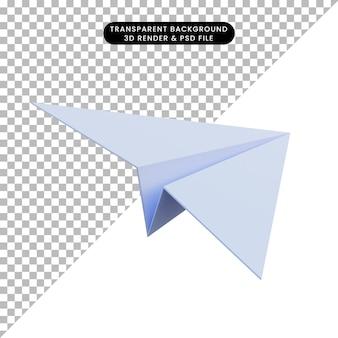 Aviões de papel de ilustração 3d