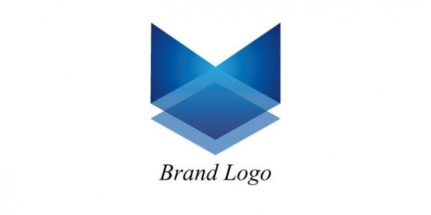 Azul modelo de logotipo da marca
