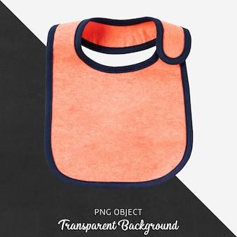 Babador de bebê laranja em fundo transparente
