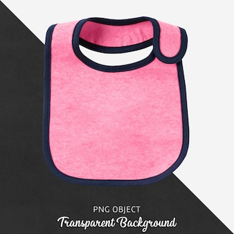 Babador rosa transparente para bebê ou crianças