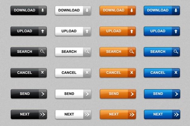 Baixar botões web em psd e png pacote de