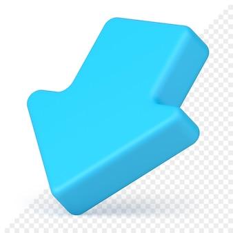Baixar ícone de seta 3d