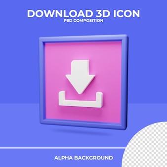 Baixe a renderização do ícone de renderização 3d