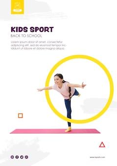 Balanceamento de garota para modelo de esporte de crianças