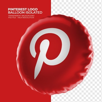 Balão 3d do logotipo do pinterest