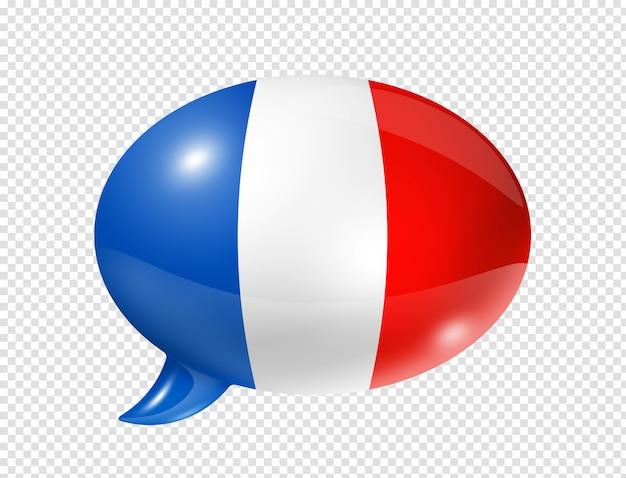 Balão de bandeira da frança