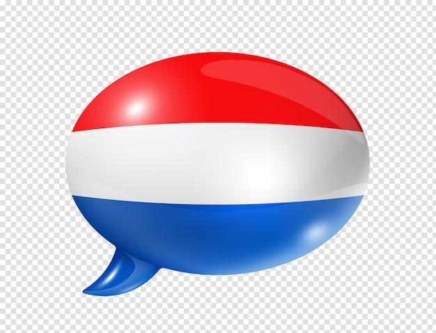 Balão de bandeira da holanda