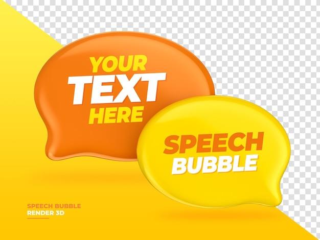 Balão de fala de balão de bate-papo renderização 3d