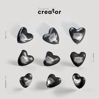 Balão de sexta-feira preta vários ângulos para ilustrações de criador de cena