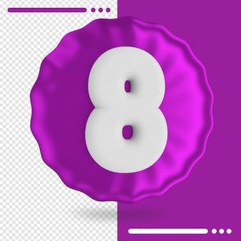 Balão e renderização em 3d número 8