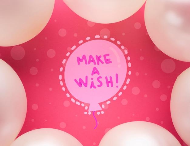 Balões de aniversário com leigos plana