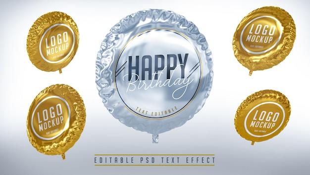 Balões de composição de feliz aniversário