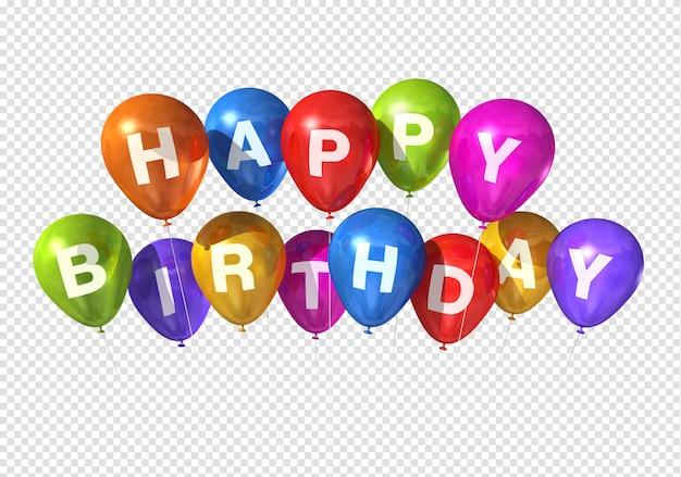 Balões de feliz aniversário