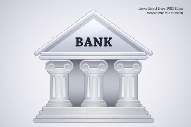 Banco edifício ícone psd