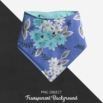 Bandana de bebê ou criança padronizada floral azul transparente