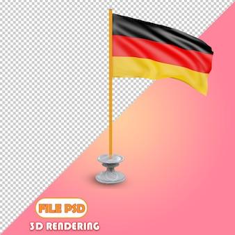 Bandeira 3d da alemanha