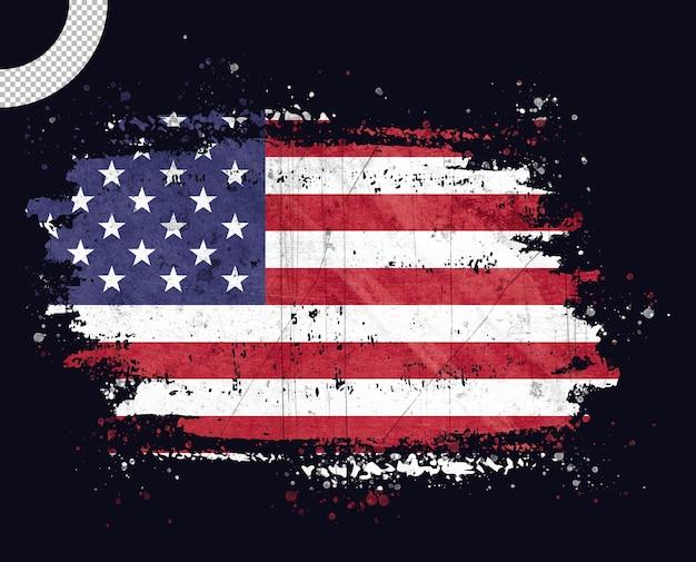 Bandeira americana com pincelada