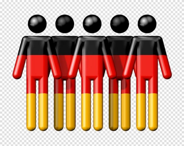 Bandeira da alemanha na figura de pau