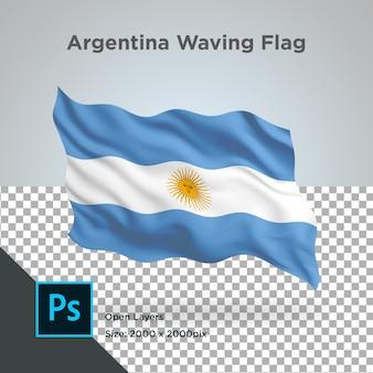 Bandeira da argentina wave psd transparente