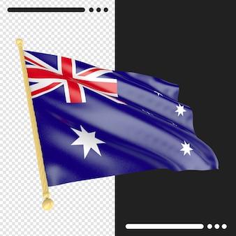 Bandeira da austrália renderização isolada