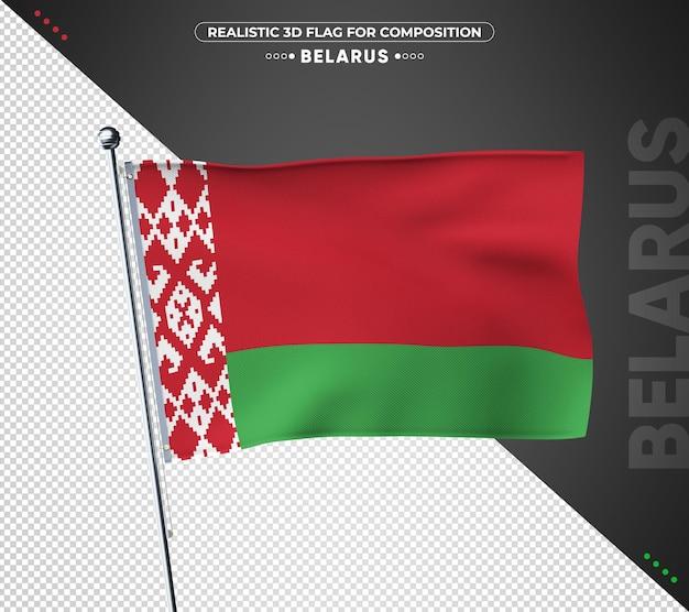 Bandeira da bielo-rússia com textura realista
