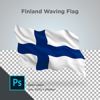 Bandeira da finlândia wave psd transparente
