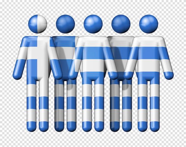 Bandeira da grécia na figura de pau