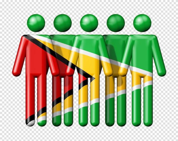 Bandeira da guiana na figura da vara