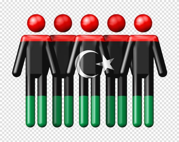 Bandeira da líbia na figura da vara