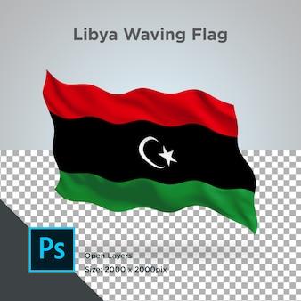 Bandeira da líbia onda psd transparente