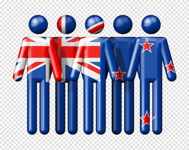 Bandeira da nova zelândia em bonequinhos