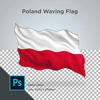 Bandeira da polónia onda design transparente