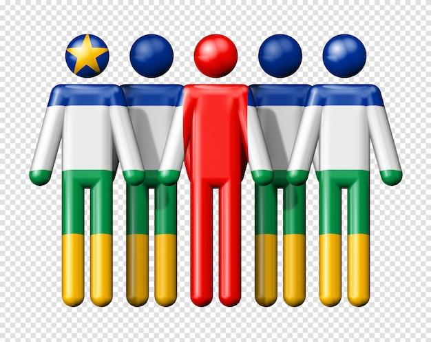 Bandeira da república centro-africana em bonequinhos