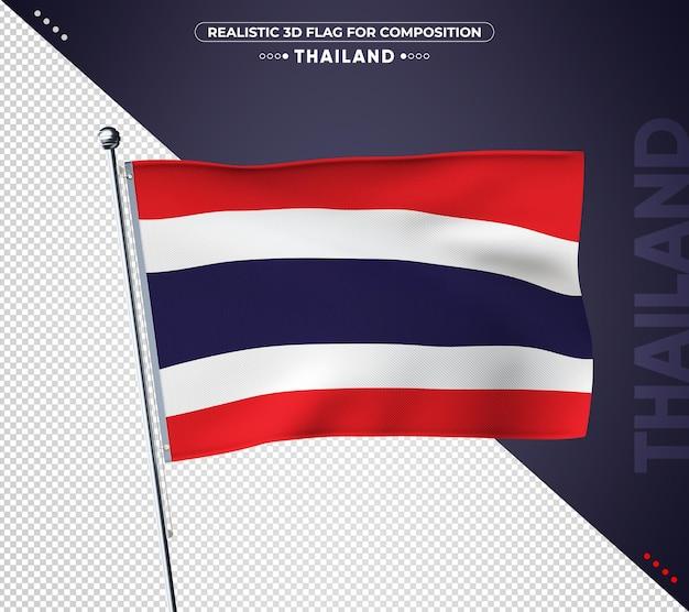 Bandeira da tailândia com textura realista