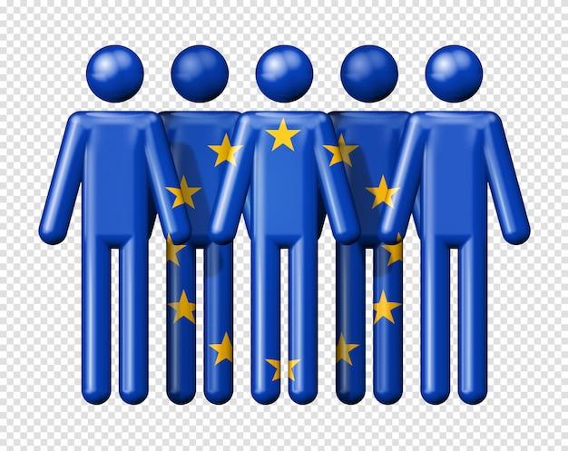 Bandeira da união europeia em bonequinhos