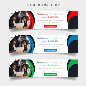 Bandeira da web de negócios modernos