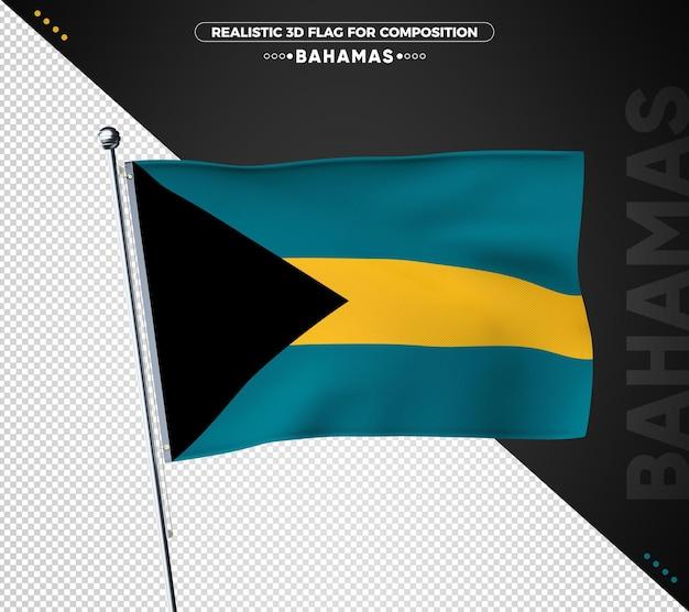 Bandeira das bahamas com textura realista
