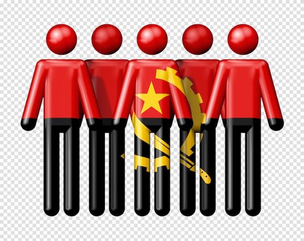Bandeira de angola na figura de pau