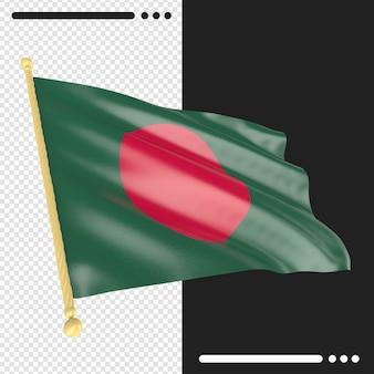 Bandeira de bangladesh renderização isolada