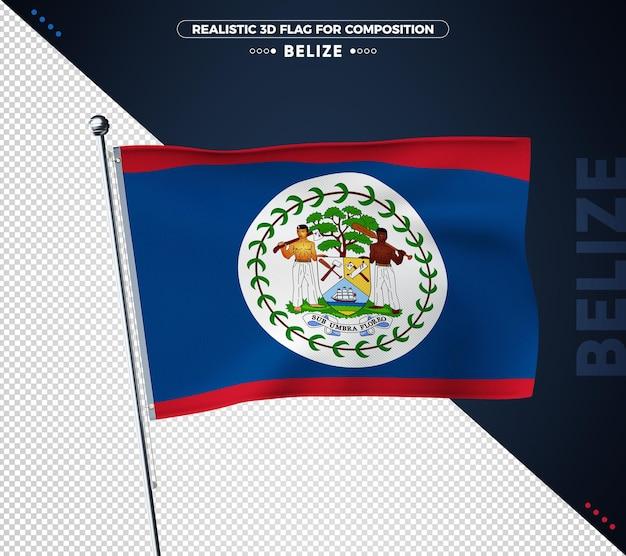Bandeira de belize com textura realista
