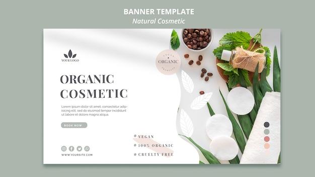 Bandeira de cosméticos naturais