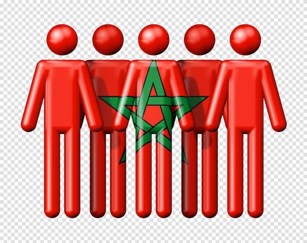 Bandeira de marrocos na figura de pau