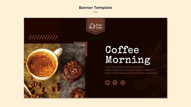 Bandeira de modelo de café