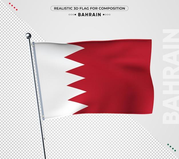 Bandeira do bahrein com textura realista